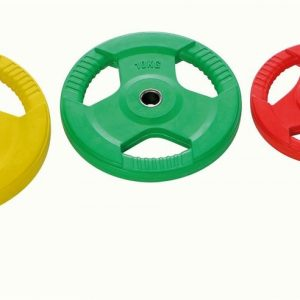 colored weight plates Ø 30mm with rubber handle