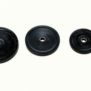black weight plates Ø 30mm made of rubber