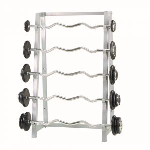 Storage barbell stand 5 slots RAL 9006