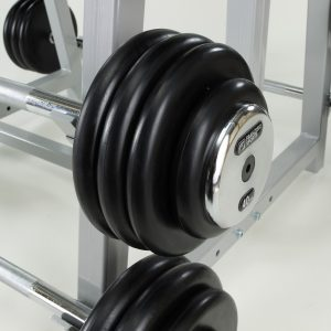 SALE – Rubberized barbell with chrome end parts 40kg