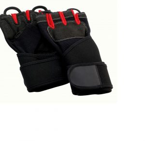 Bandages glove black / red