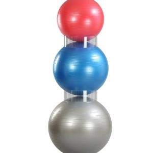 Stacking aid for exercise ball