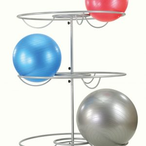 Tray for 15 exercise balls, gray